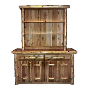 Log Kitchen Tables Custom cedar kitchen cabinets log dining tables products workwithnaturefo