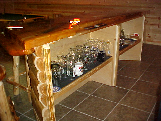Handmade Log Furniture - BAR CUSTOM