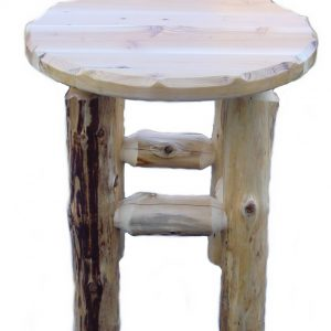 White Cedar Log Bar Stools